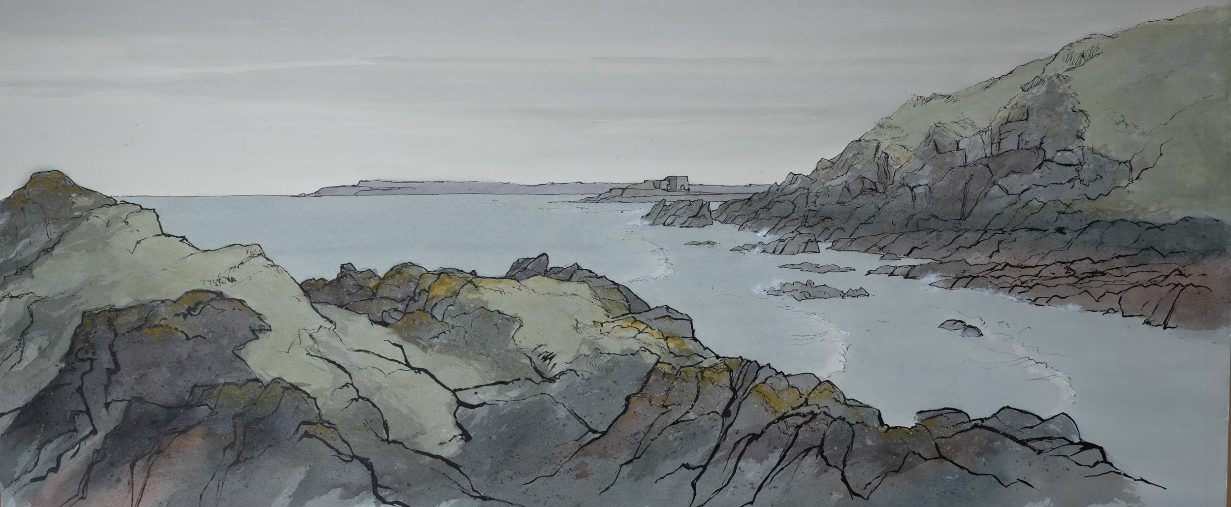 Rock Forms, St Craoch, W 121 X H 68, watercolour and ink, £1450