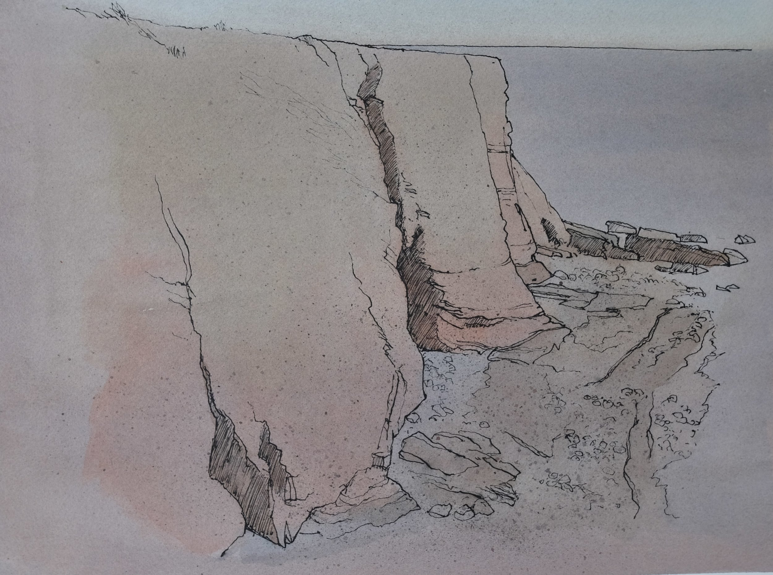 Light and Dark Caves, Flairs, W 56 x H 46, watercolour and Ink, £195