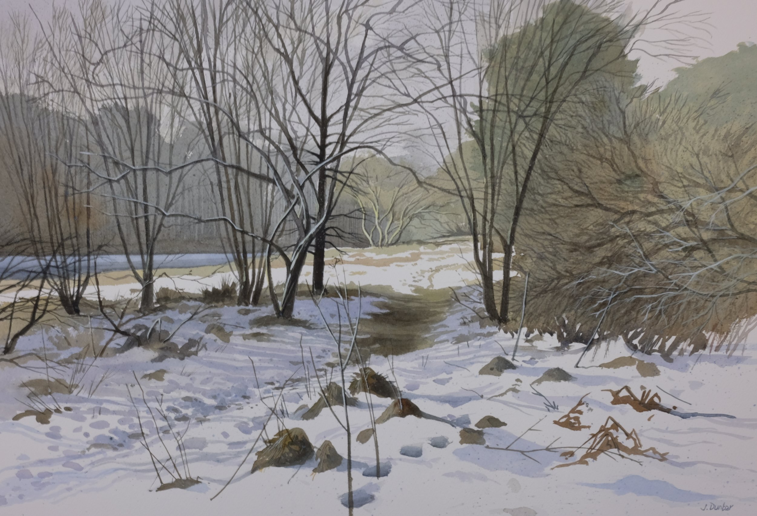 Snow, Crombie,. W 91 X H 74, watercolour, SOLD