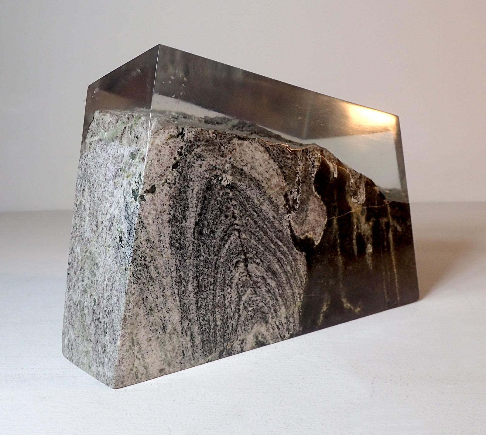 Fluid-Rock - 2017, Lewisian gneiss and acrylic, 23 x 38 x 24 cm - 15 kg. £1950