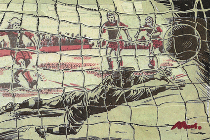 in the net (264), collage, 100 x 150 mm, £300  SOLD
