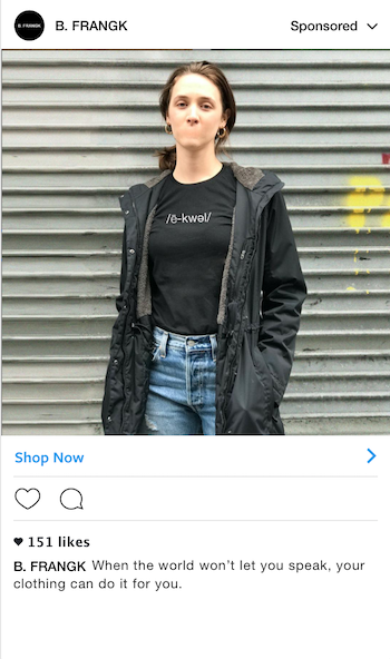 Static Instagram ad