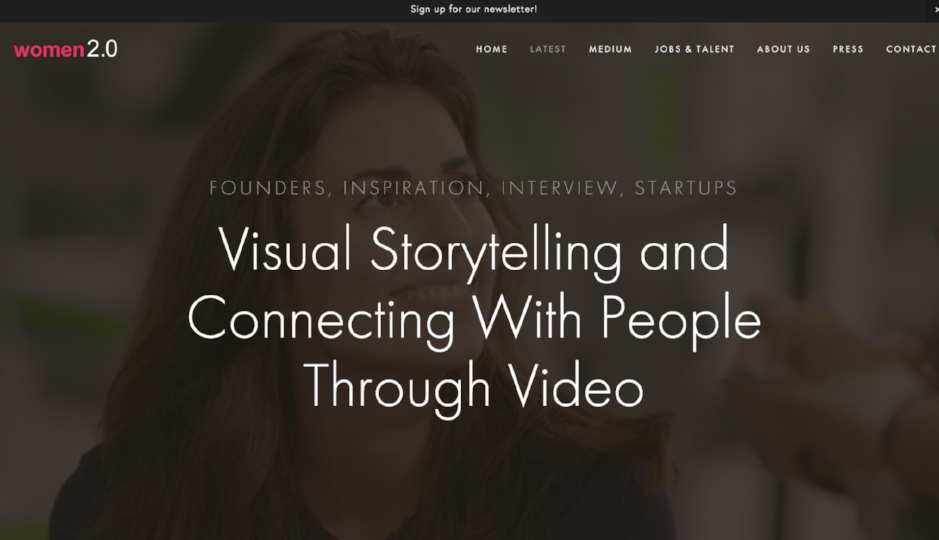 Talking about visual storytelling and being human with  Women2.0