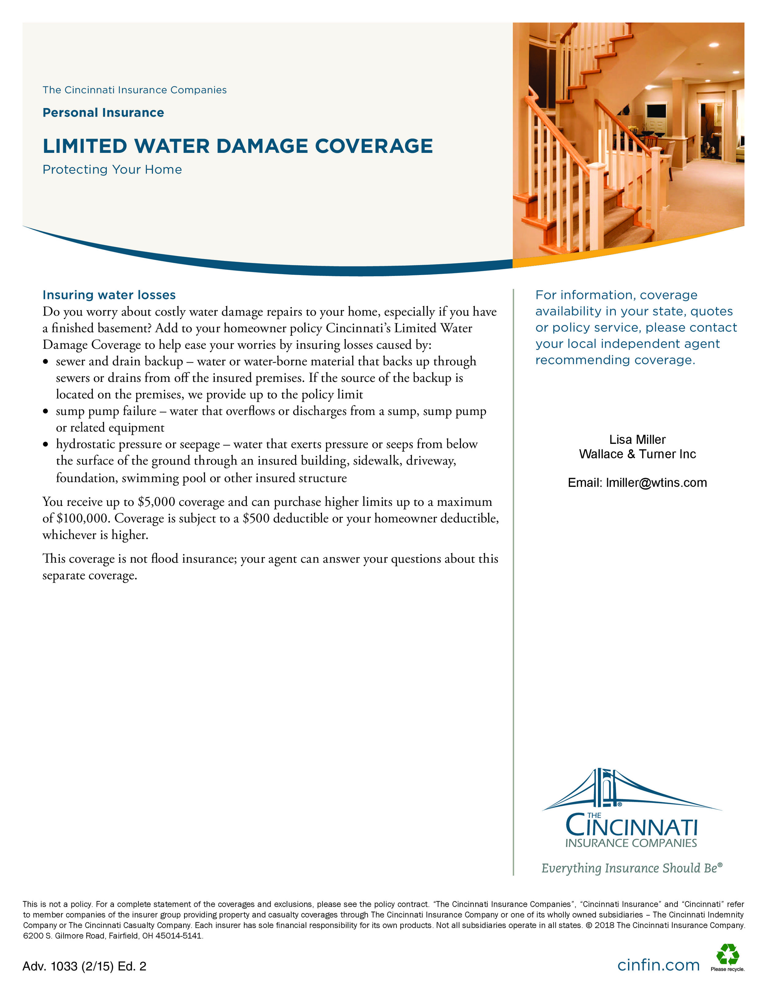 Limited Water Damage Coverage