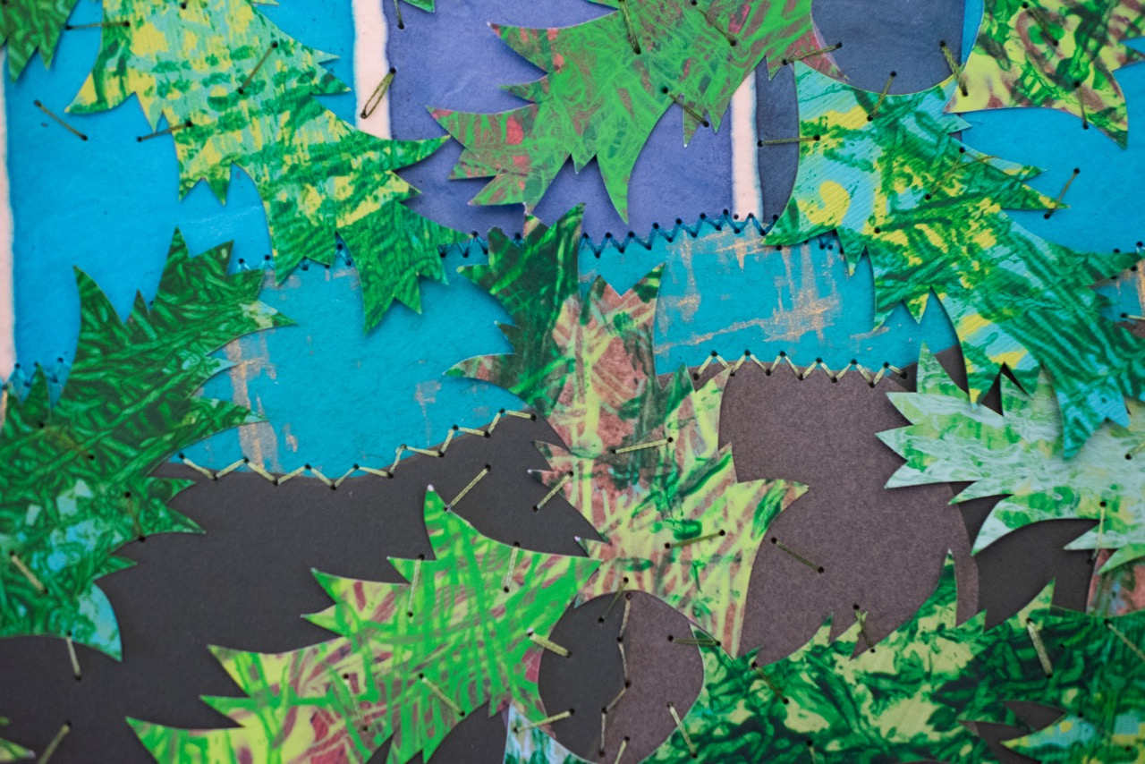 Close-up of  'Tiz a Puzzle'  created by our youngest students and Sandy.