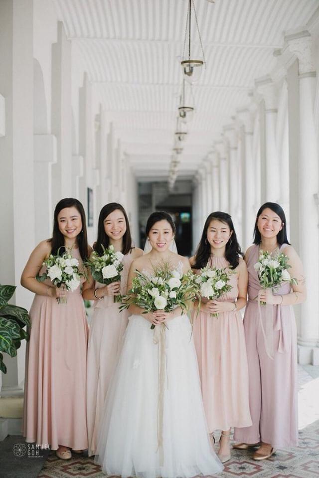 1.5 inch Sandpiper  Photography   Samuel Goh  , Florals & Styling   Flour  , Wedding Dress   Amanda Lee Weddings