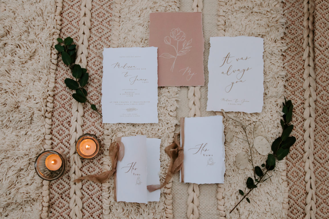 0.5 inch Crinkle Mocha for the Vow Books  Photography   Natalie Wong Photography  , Invitation   Mylin Design & Co