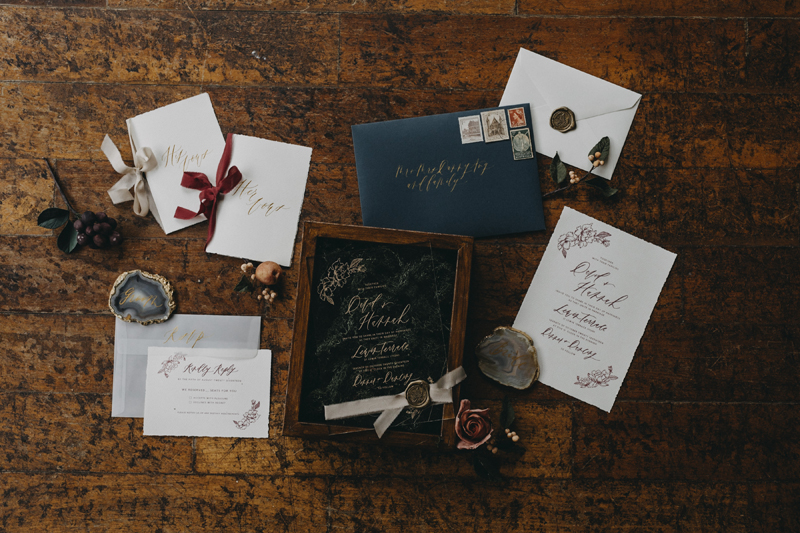 0.5 inch Sandpiper and Burgundy for the Vow Books  As featured on     Singapore Brides    Photography   Stanstills Photography   ,  Wedding Stationery and Calligraphy   Gifts of Grace Design  , Sugar Flowers   Winifred Kriste Cake  , Styling   Wedding Diary