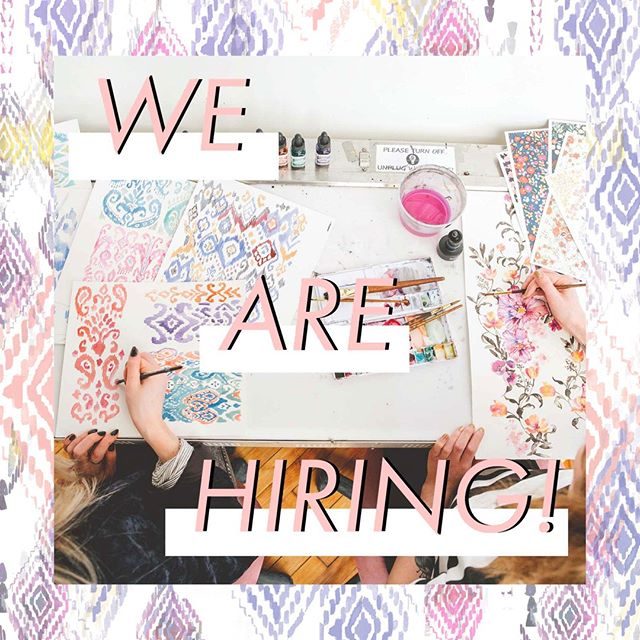 ✨✨✨WE ARE HIRING INTERNS + ONE PRINT DESIGNER! ✨✨✨ (IN HOUSE ONLY) ⠀⠀⠀⠀⠀⠀⠀⠀⠀ ⠀⠀⠀⠀⠀⠀⠀⠀⠀ We are excited to be growing our Printfresh fam! Apply through the link in our profile for more details.⠀⠀⠀⠀⠀⠀⠀⠀⠀ .⠀⠀⠀⠀⠀⠀⠀⠀⠀⠀⠀⠀⠀⠀⠀⠀⠀⠀ .⠀⠀⠀⠀⠀⠀⠀⠀⠀⠀⠀⠀⠀⠀⠀⠀⠀⠀ .⠀⠀⠀⠀⠀⠀⠀⠀⠀⠀⠀⠀⠀⠀⠀⠀⠀⠀ #printfreshstudio #textiledesign #design #artist #painting #watercolor #prints #printdesign #artistoninstagram #designwork #wearepremierevision #studio #printdesign #philadelphia #philly #fishtownflea #studio #inhouse #illustration #inktober #workspace #fashion #textiles #sales #job #hiring