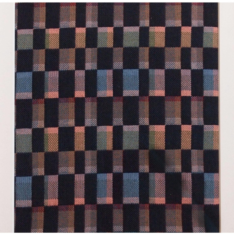Floor loom woven fabric
