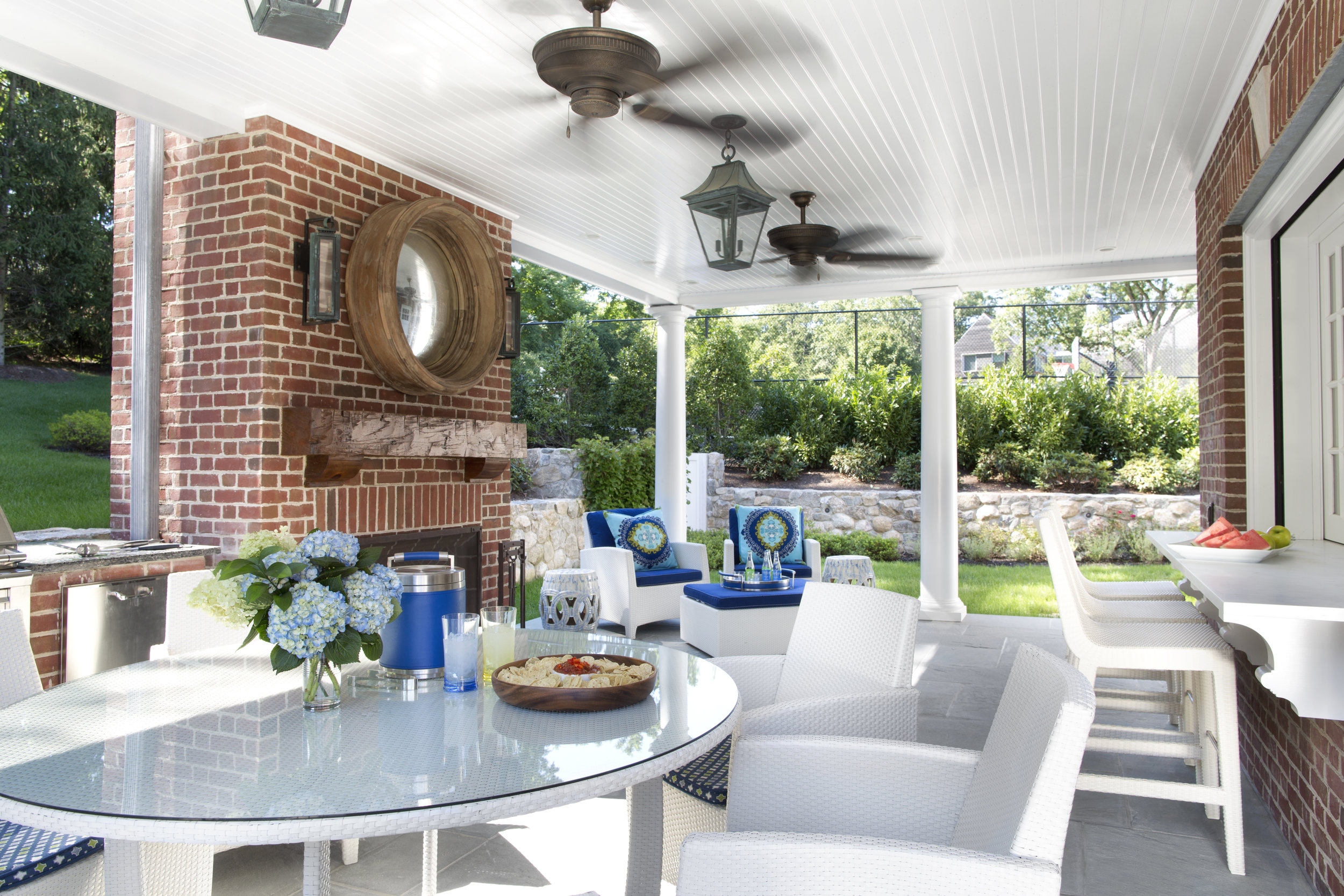 © Traci Rhoads Interior Design, Private Residences and Country Clubs, Greenwich, CT