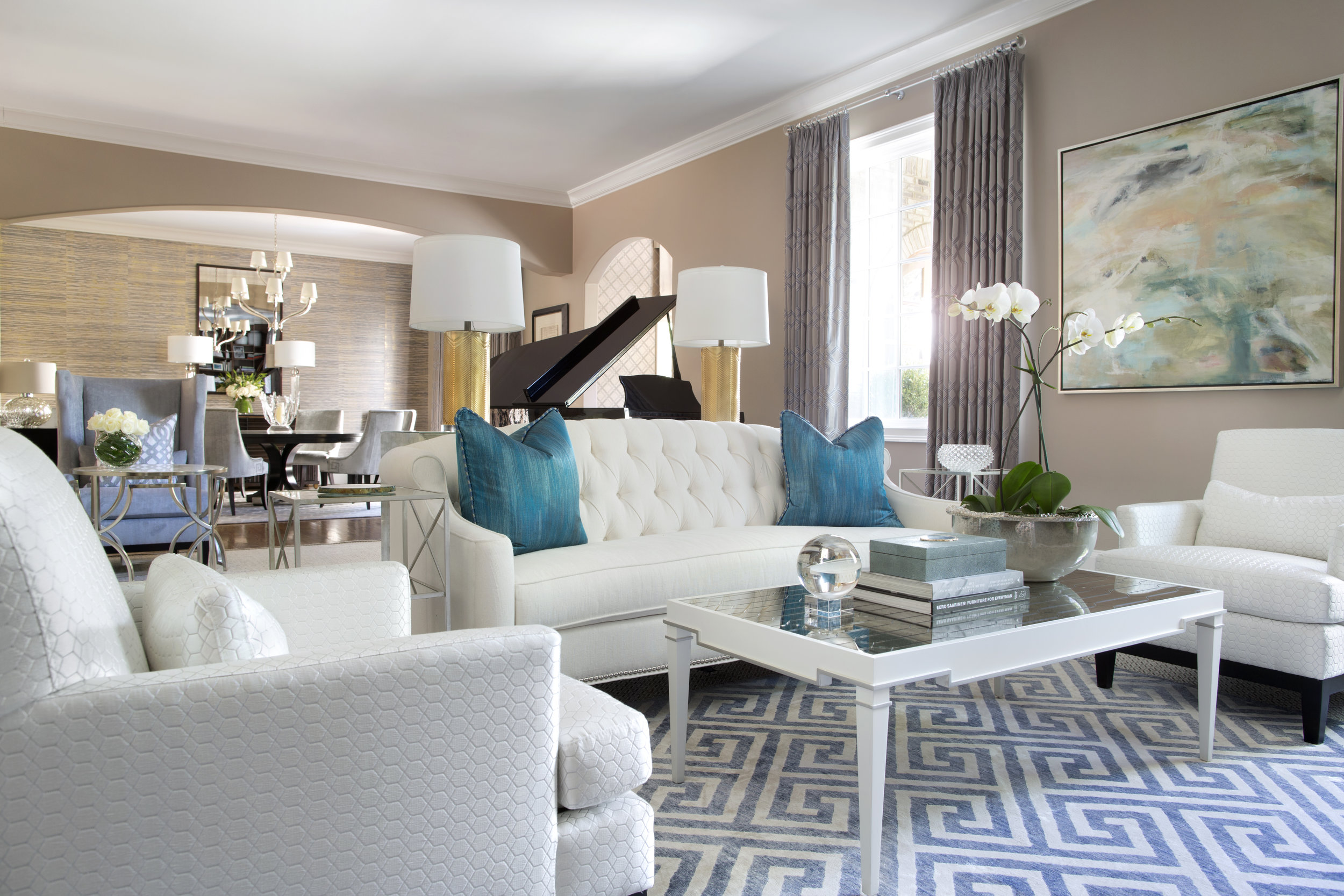 © Traci Rhoads Interior Design, Private Residences and Country Clubs, Atlanta, GA
