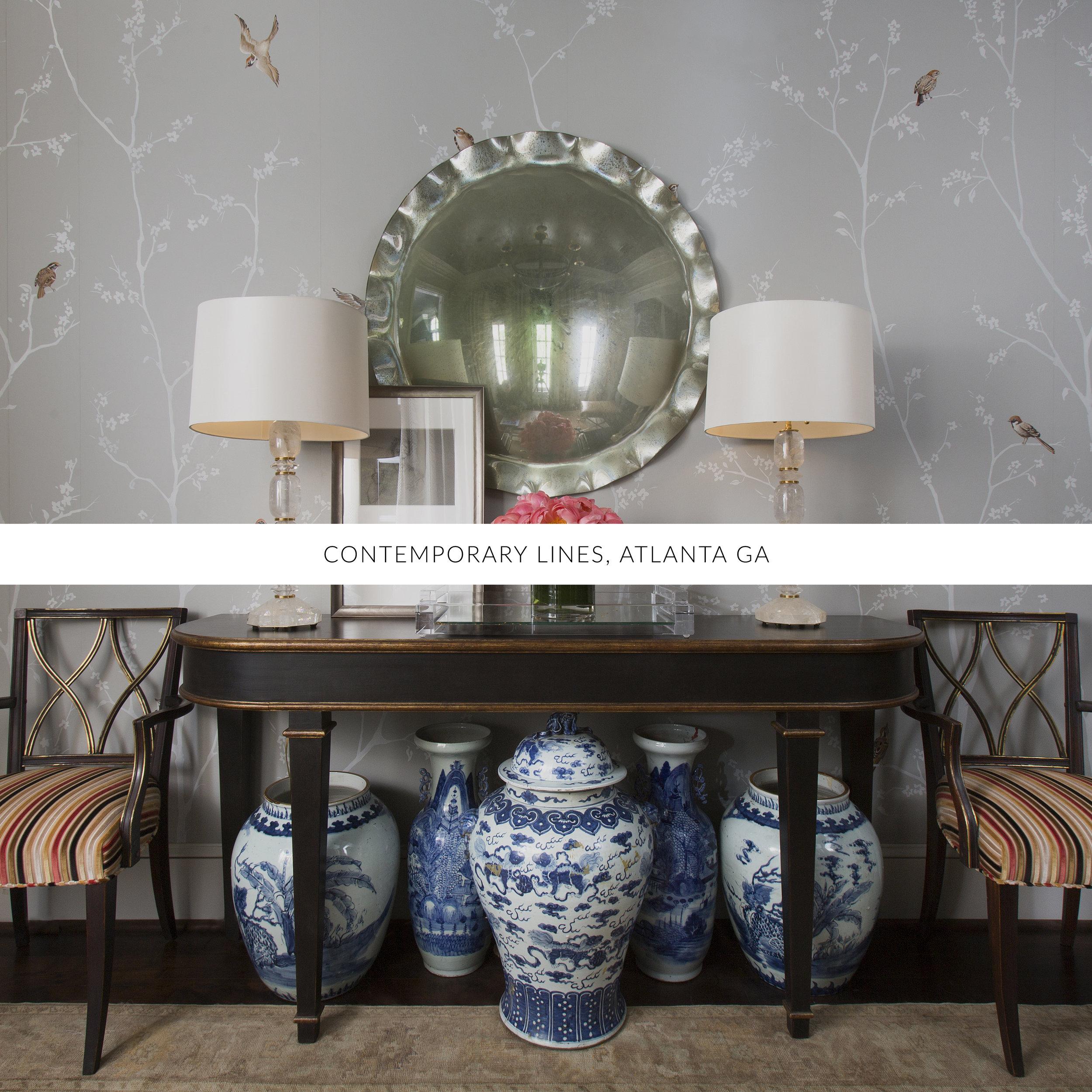 © Contemporary Lines, Traci Rhoads Interior Design, Private Residences and Country Clubs, Atlanta, GA