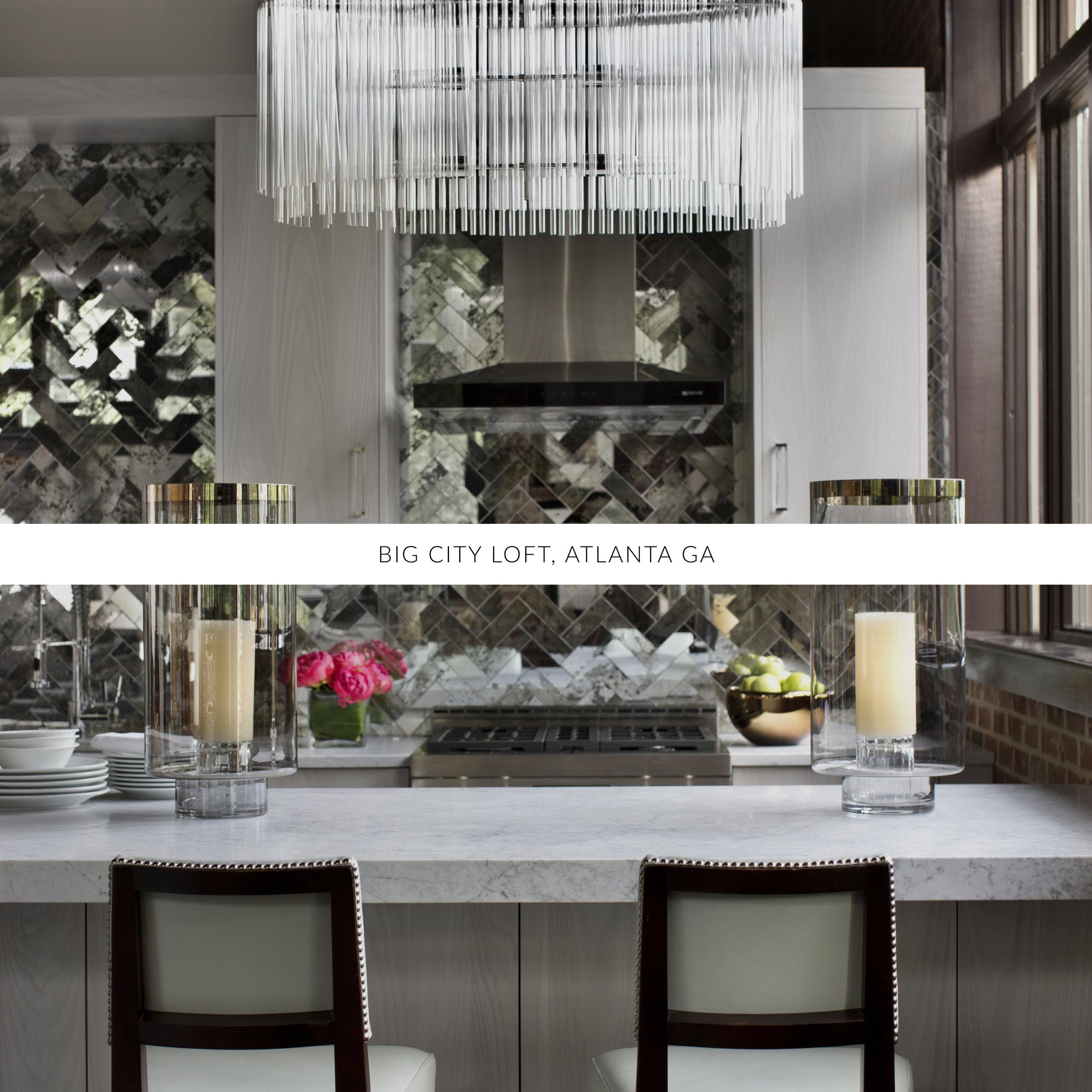 © Big City Loft, Traci Rhoads Interior Design, Private Residences and Golf &Country Clubs, Athens, GA