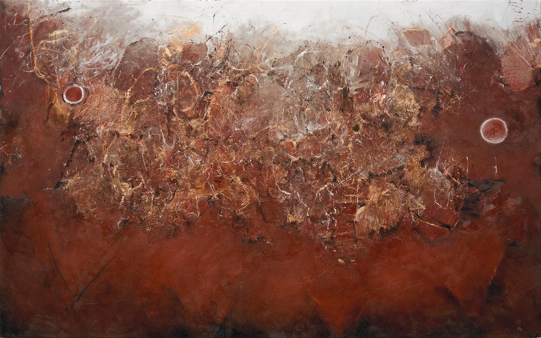 "Arizona  2017 oil, enamel, and charcoal on canvas 72 x 45"" / 183 x 114 cm"