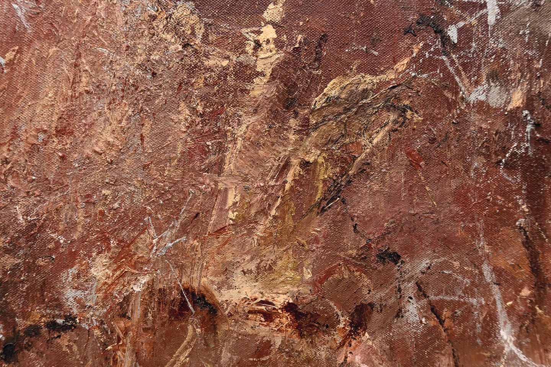 "Arizona  (detail) 2017 oil, enamel, and charcoal on canvas 72 x 45"" / 183 x 114 cm"