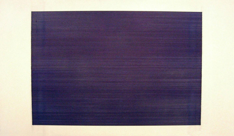 "Orthodoxy  2006 ballpoint pen on canvas 84 x 48"" / 213 x 122 cm"