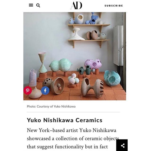 ~ congrats for the @archdigest write up and it was great seeing you at @wanteddesign ! . .  #Repost @yuko_nishikawa ・・・ Thanks @archdigest for featuring my work in the Best of WantedDesign Manhattan! @wanteddesign #nycxdesign #wanteddesignnyc
