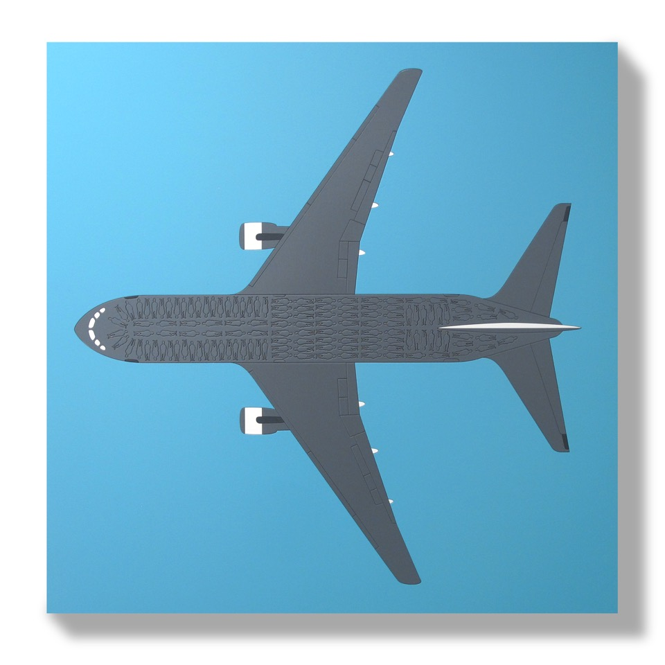 Low Cost Flight (2015) - 58 x 58 cm - Paneles Encastrados / embedded panels
