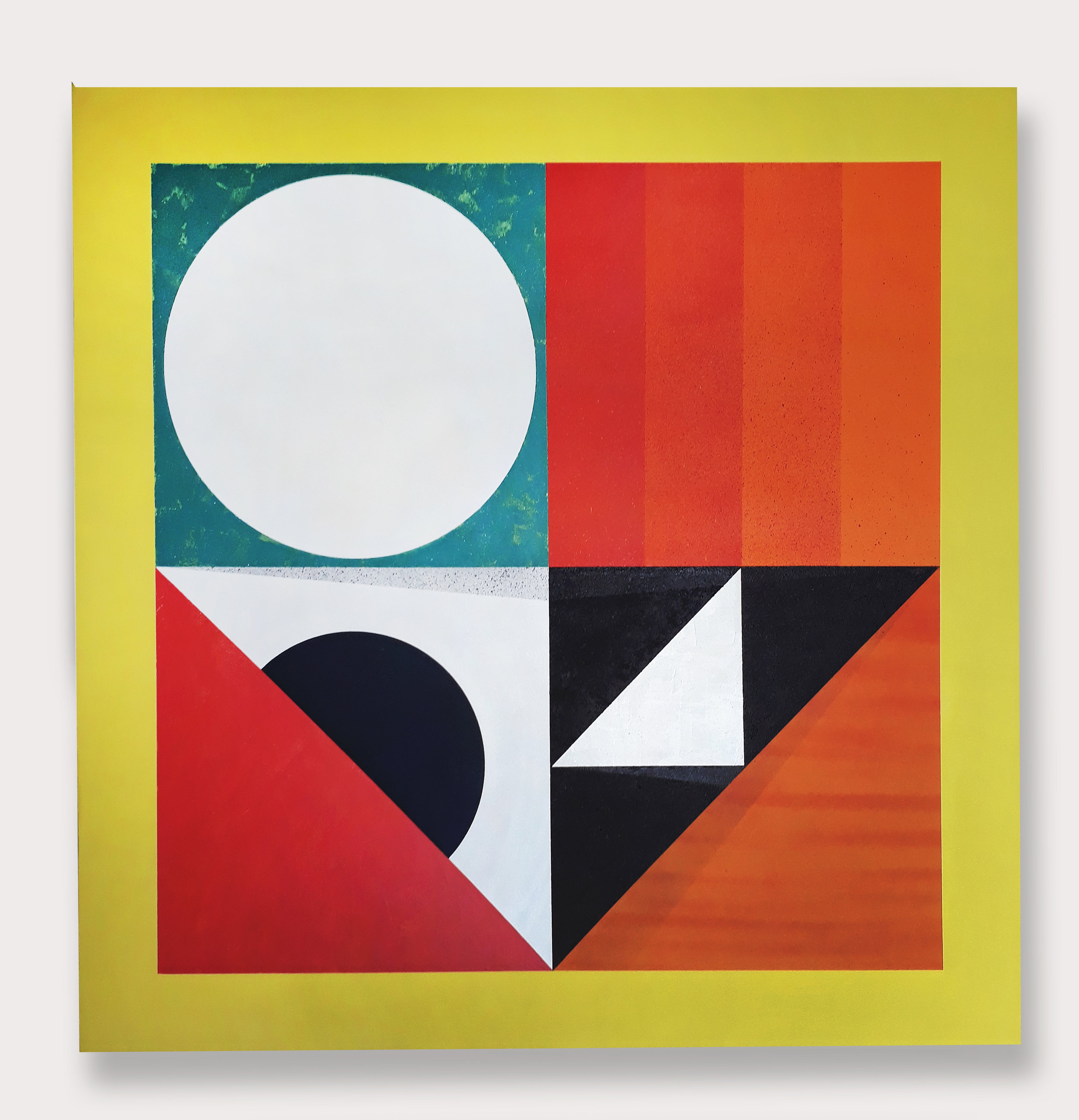 Phase (2019) -  120 x 120 cm- Aerosol y pintura acrílica sobre lienzo  /Spray paint and acrylic on canvas