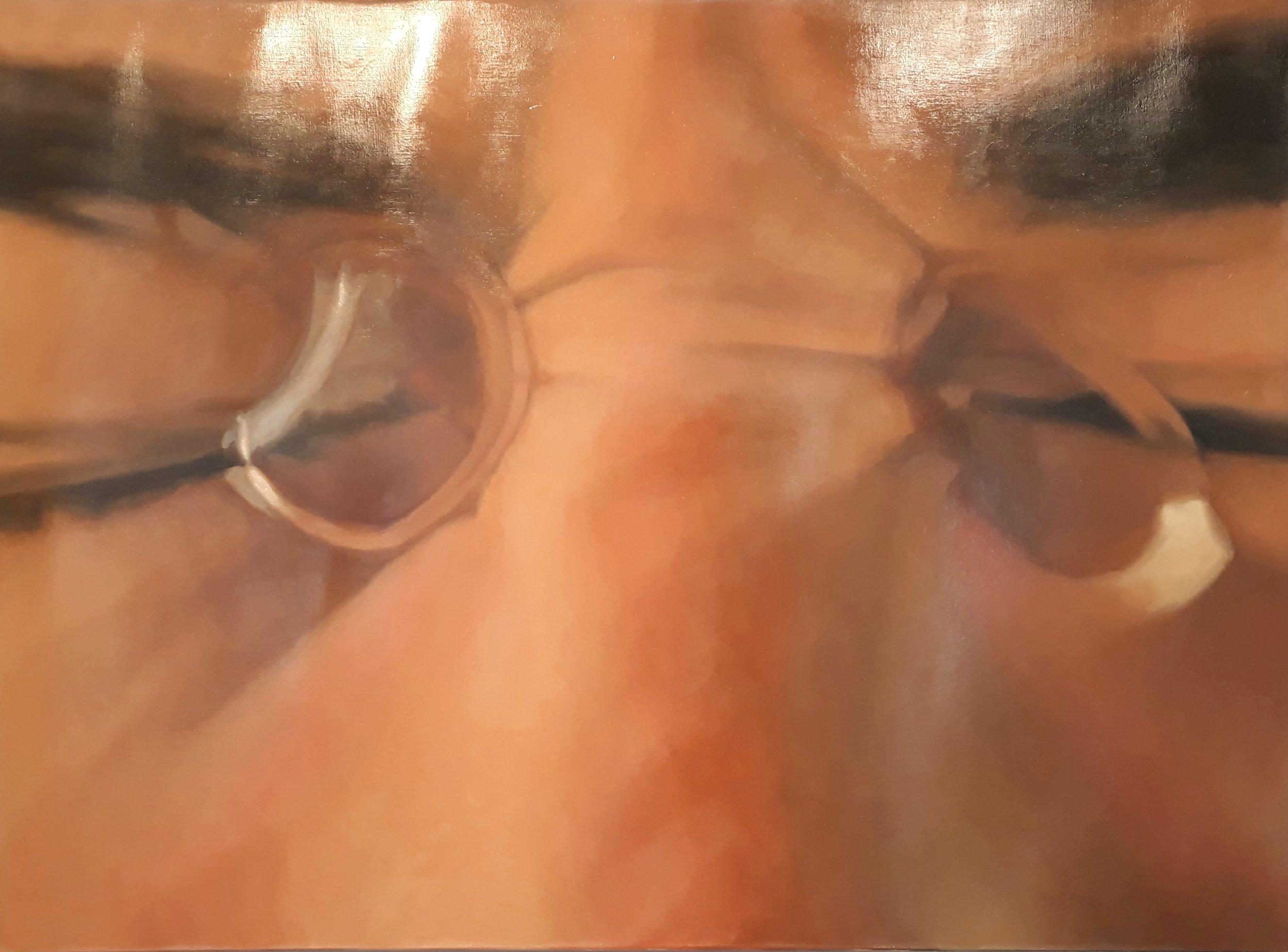 Sumersión 1 (2019) - 130 x 95 cm - Óleo sobre lienzo / Oil  painting on canvas