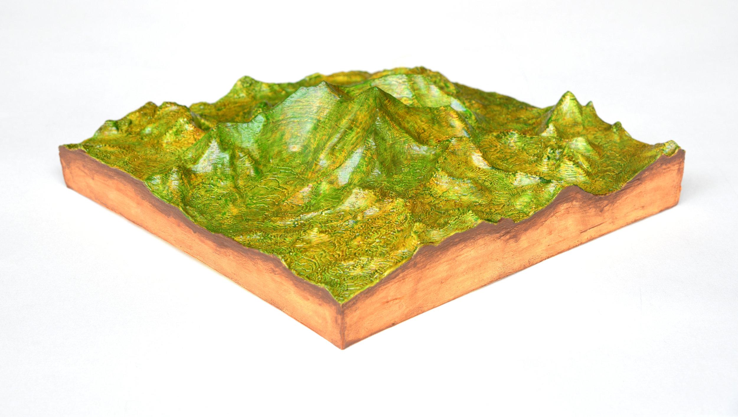 S.T, de la serie Érase un lugar (2019) - 6 x 20 x 20 cm - Impresión 3D PLA, resina y pinturas acrílicas  I 3D print on PLA with resine ans acrylic painting