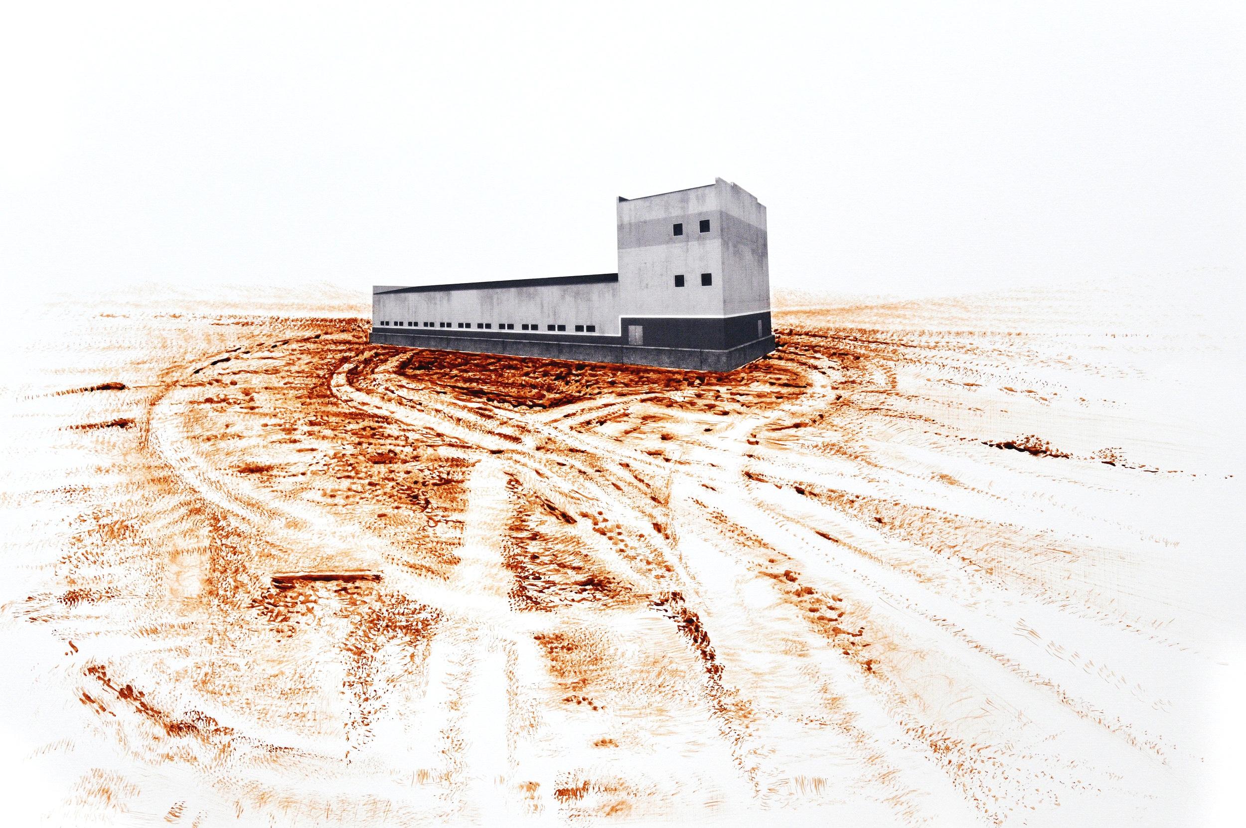 S.T, de la serie Érase un lugar (2019) -  50 x 70 cm - Tinta e impresión digital sobre papel / Ink and digital print on paper