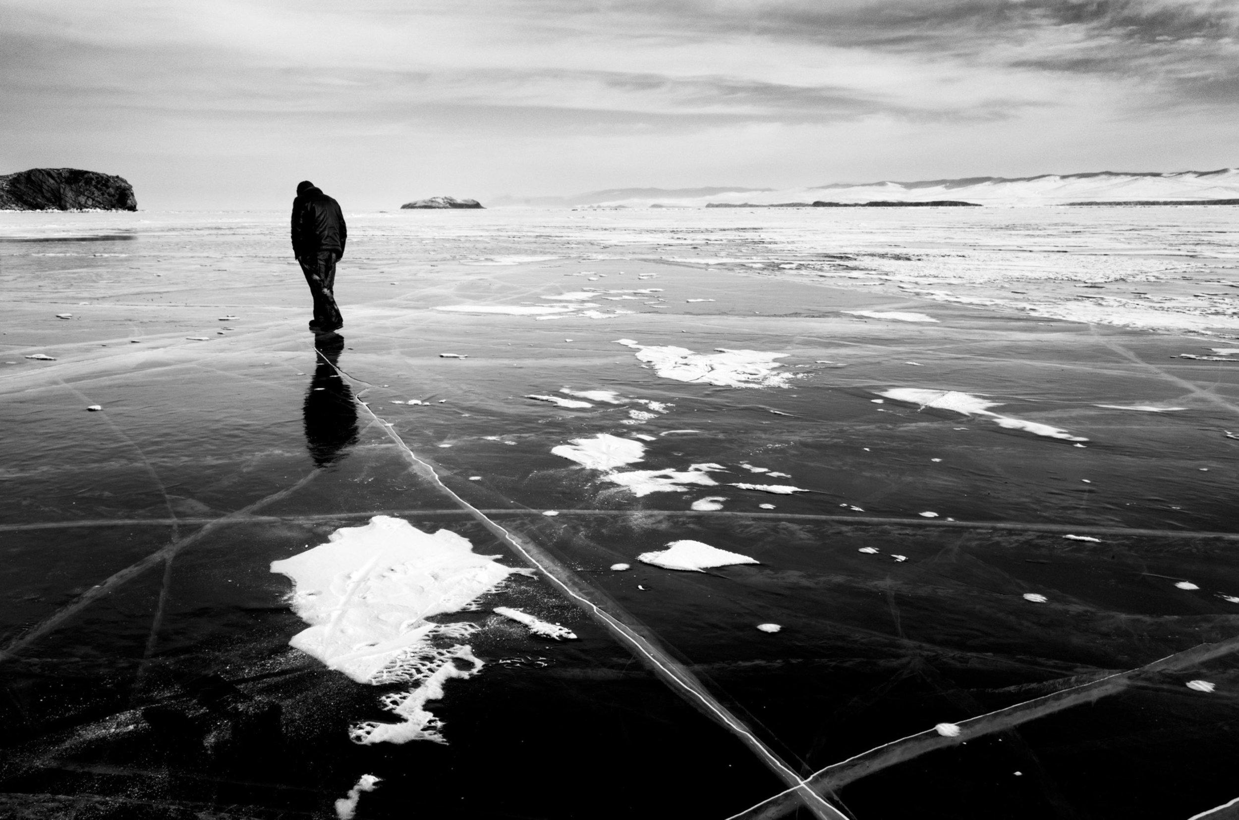 Baïkal Lake, Russia (2017) - 14 x 21 pulgadas- Edición de 7, Impresión en gelatina de plata / Silver print