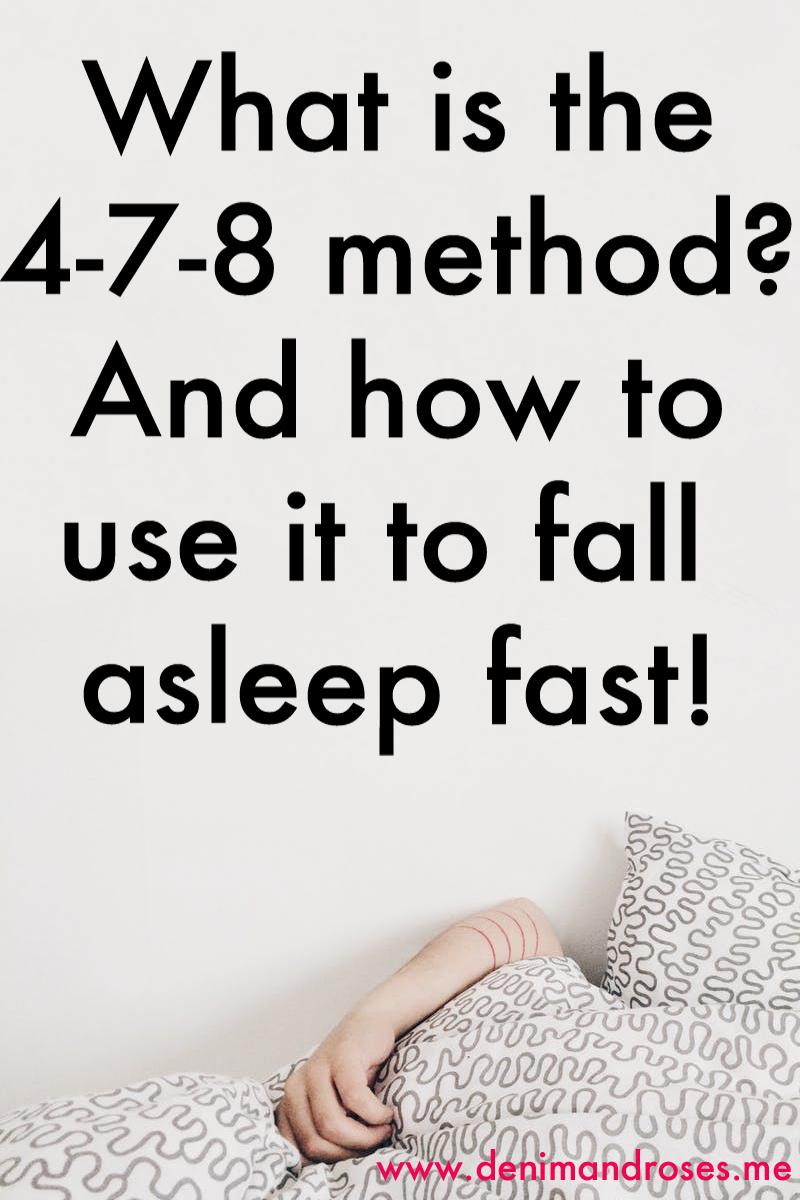 4-7-8 method fall asleep fast
