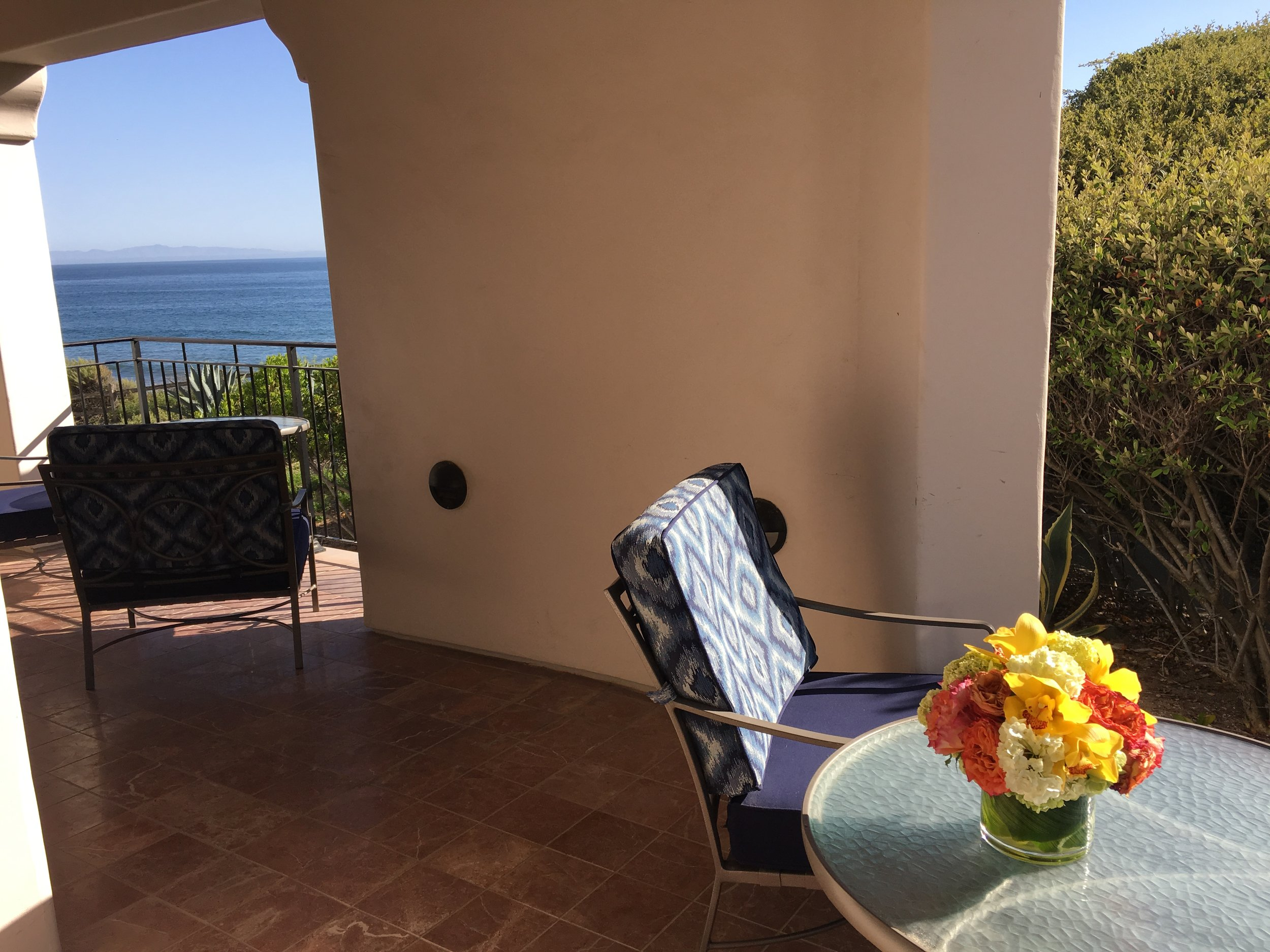Gorgeous view from our Suite, with the Channel Islands on the Horizon.