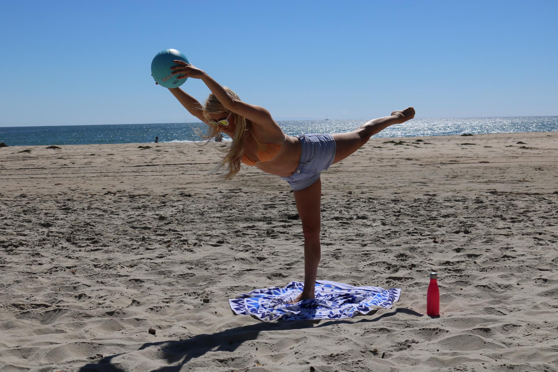 Counter balanced arabesque.