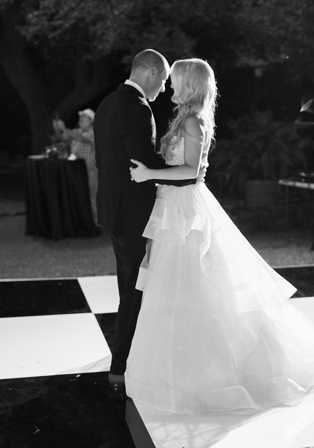 Loved our Black and White Dance Floor