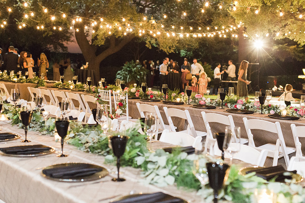 Reception in the DeGolyer Garden of the Dallas Arboretum.