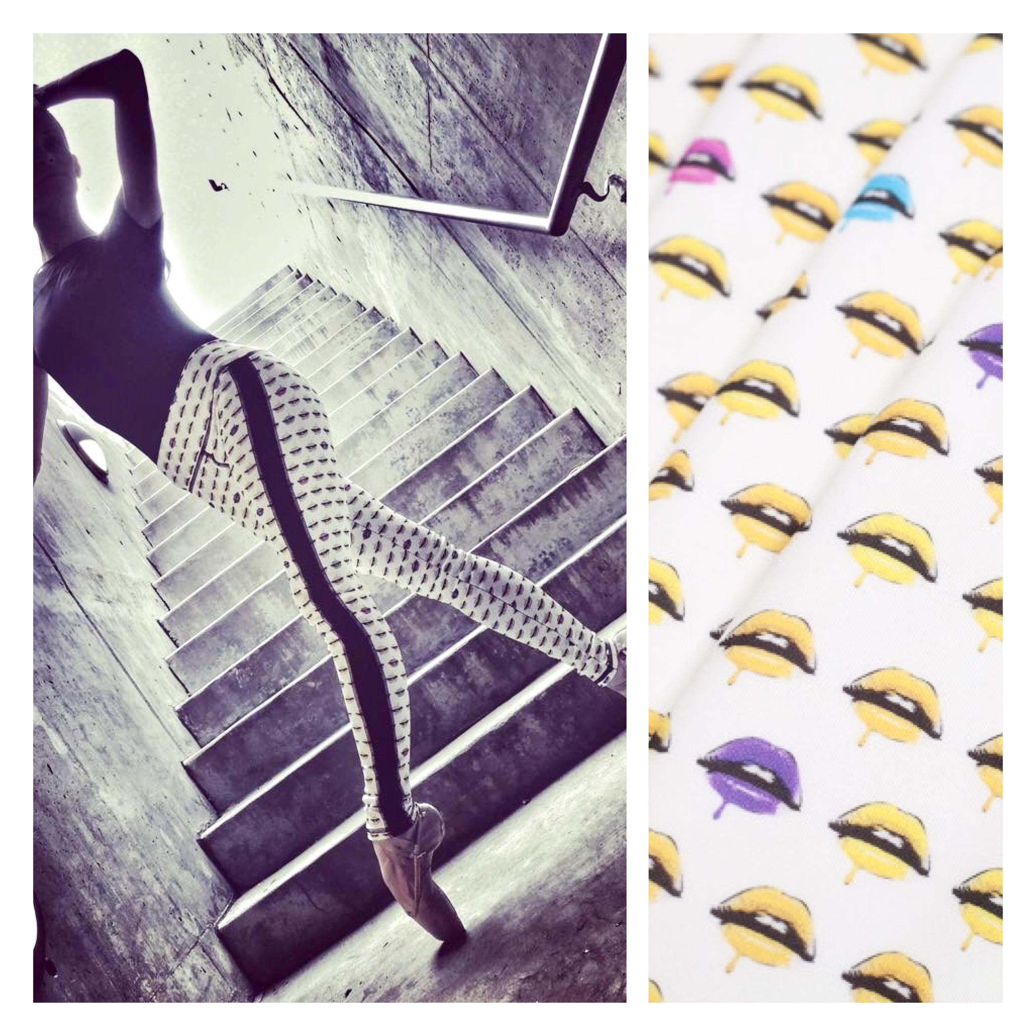 Ballerina: Lea Zablocki Print Fabric: Mood Fabrics NYC