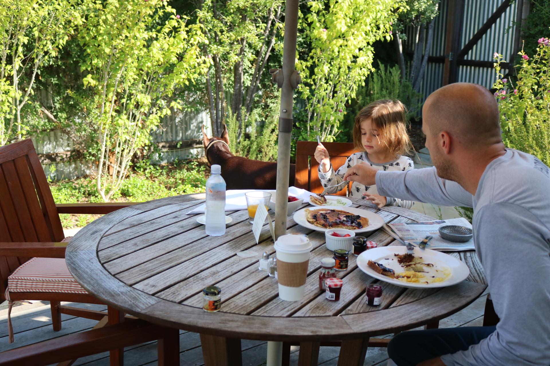 Breakfast in our own Backyard
