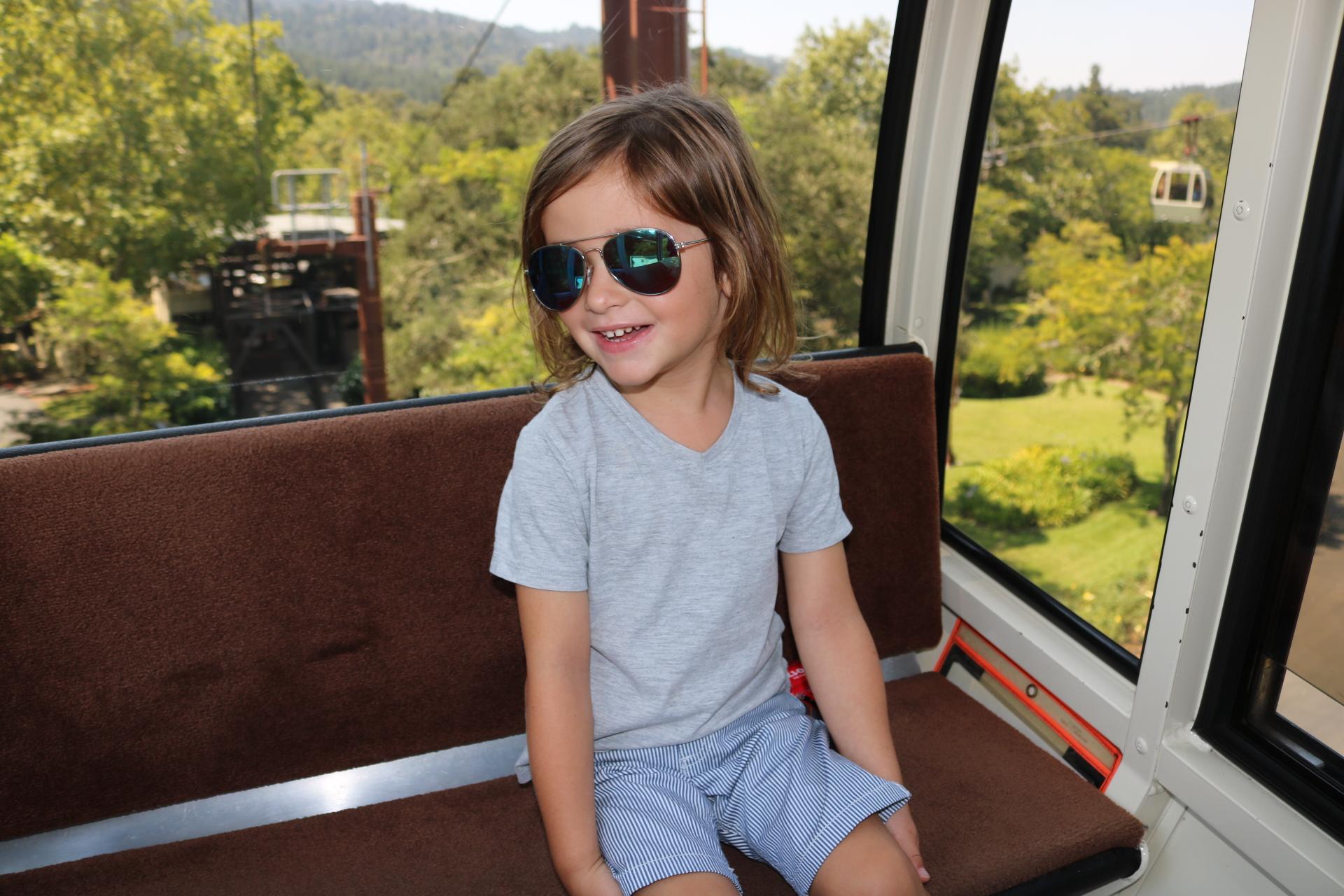 Feeling cool in the aerial tram!