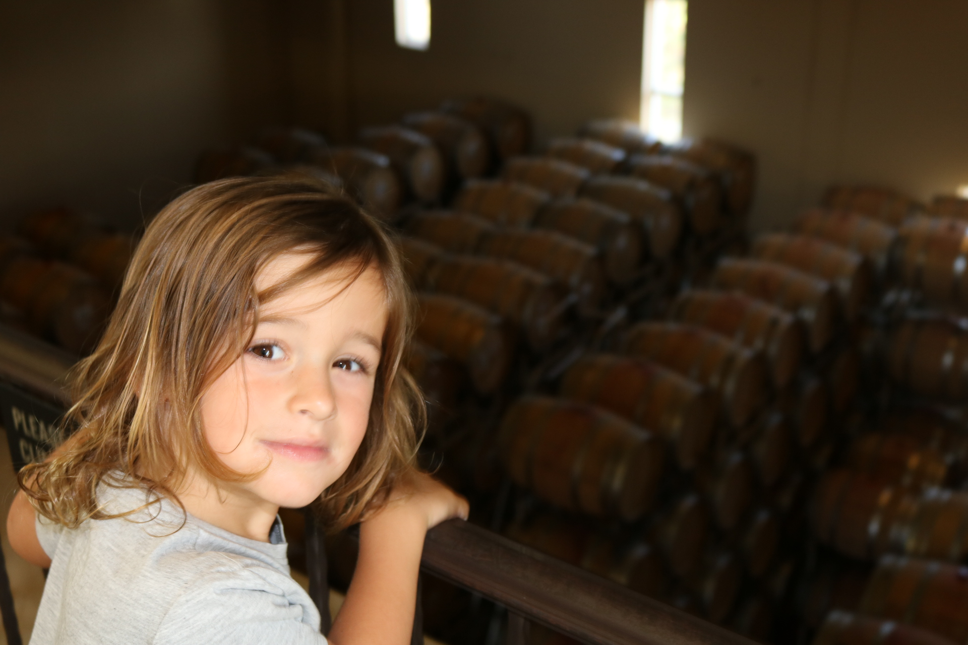 Touring the wine barrels