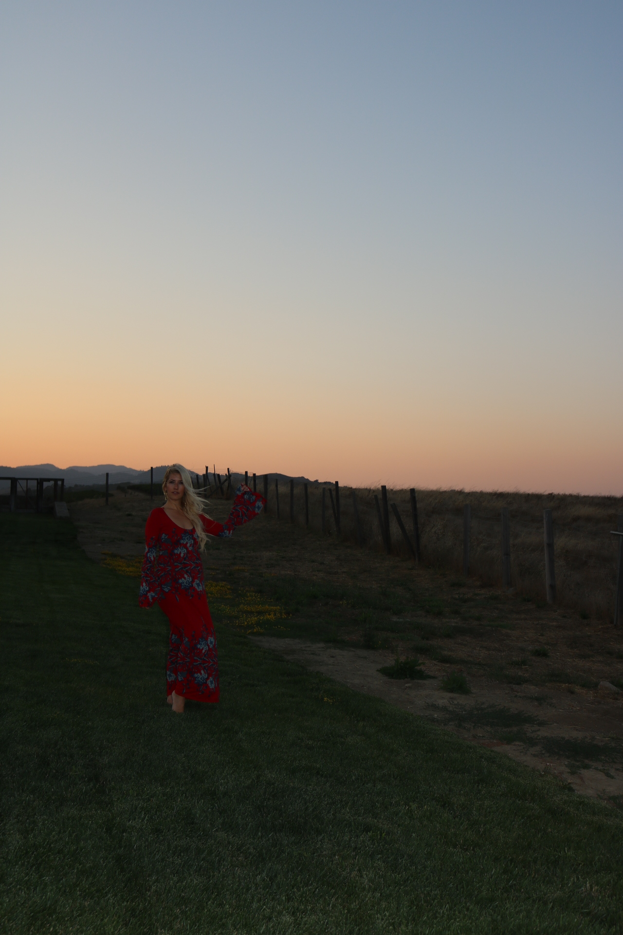 Catching the stunning sunset before dinner at FARM.