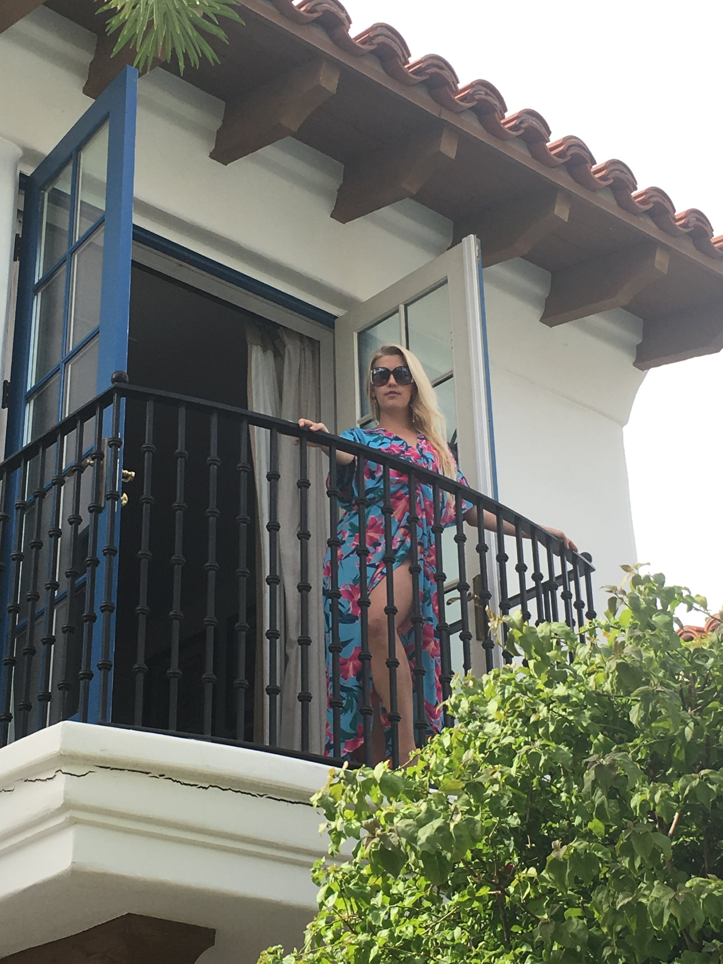 View from one of our balconies! Loving my Show Me Your Mumu Swimsuit cover!