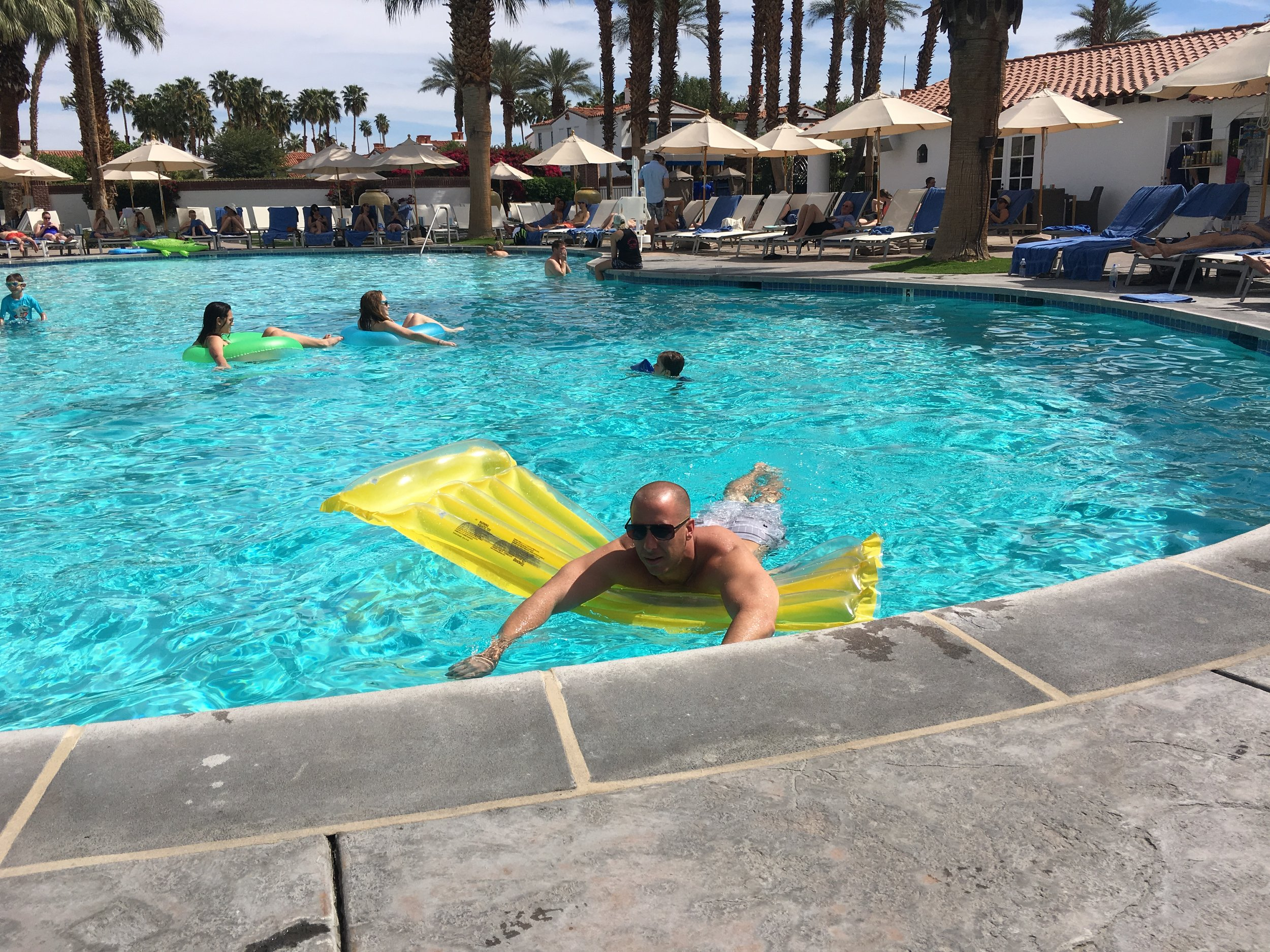 Main pool! Floaties and fun :)
