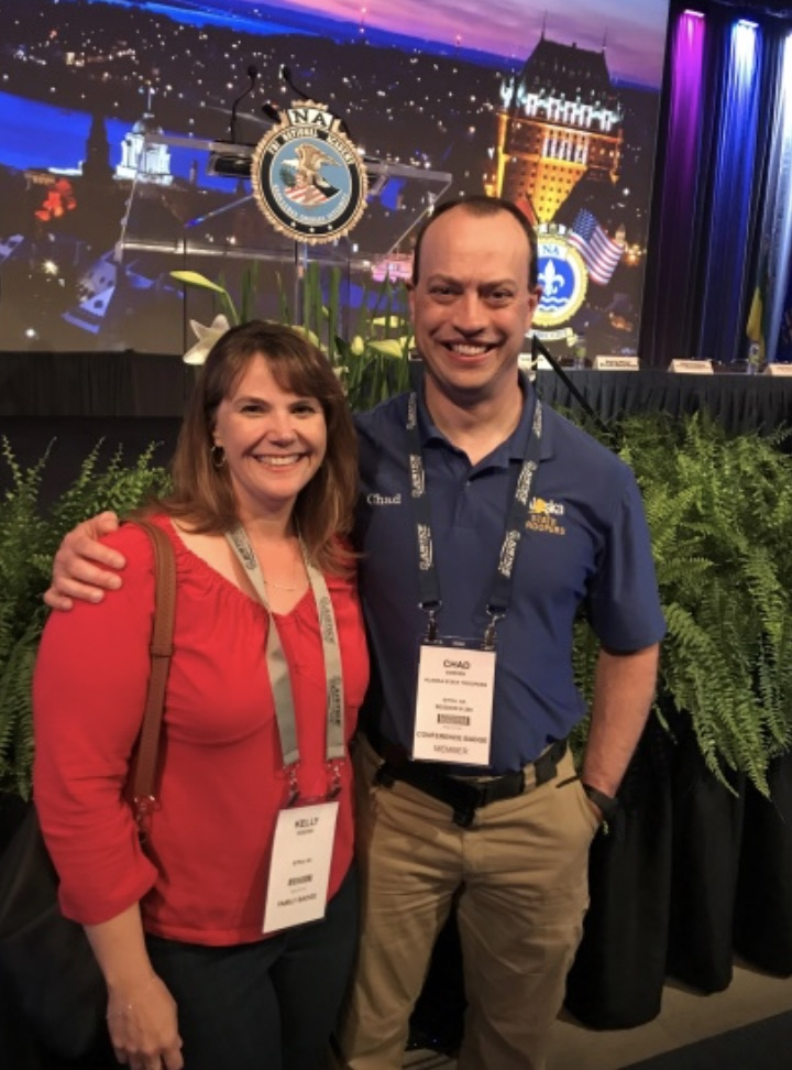Lt. Chad Goeden (Session #266) and his wife, Kelly. Both were appreciative of the opportunity to attend the National Conference and visit beautiful Quebec City.