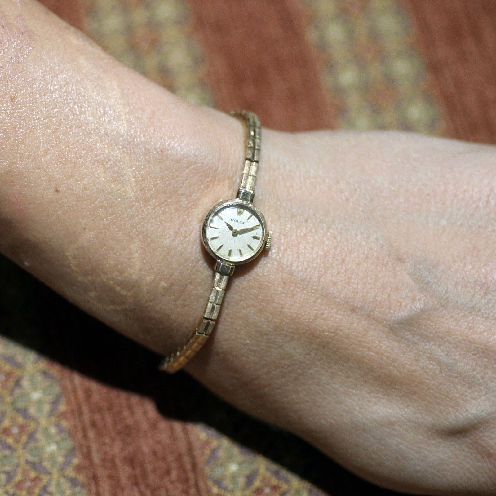 Ladies Vintage Rolex Watch 14k Solid Yellow Gold 1930\u0027s Round Case \u2014  Lovejoy Antiques