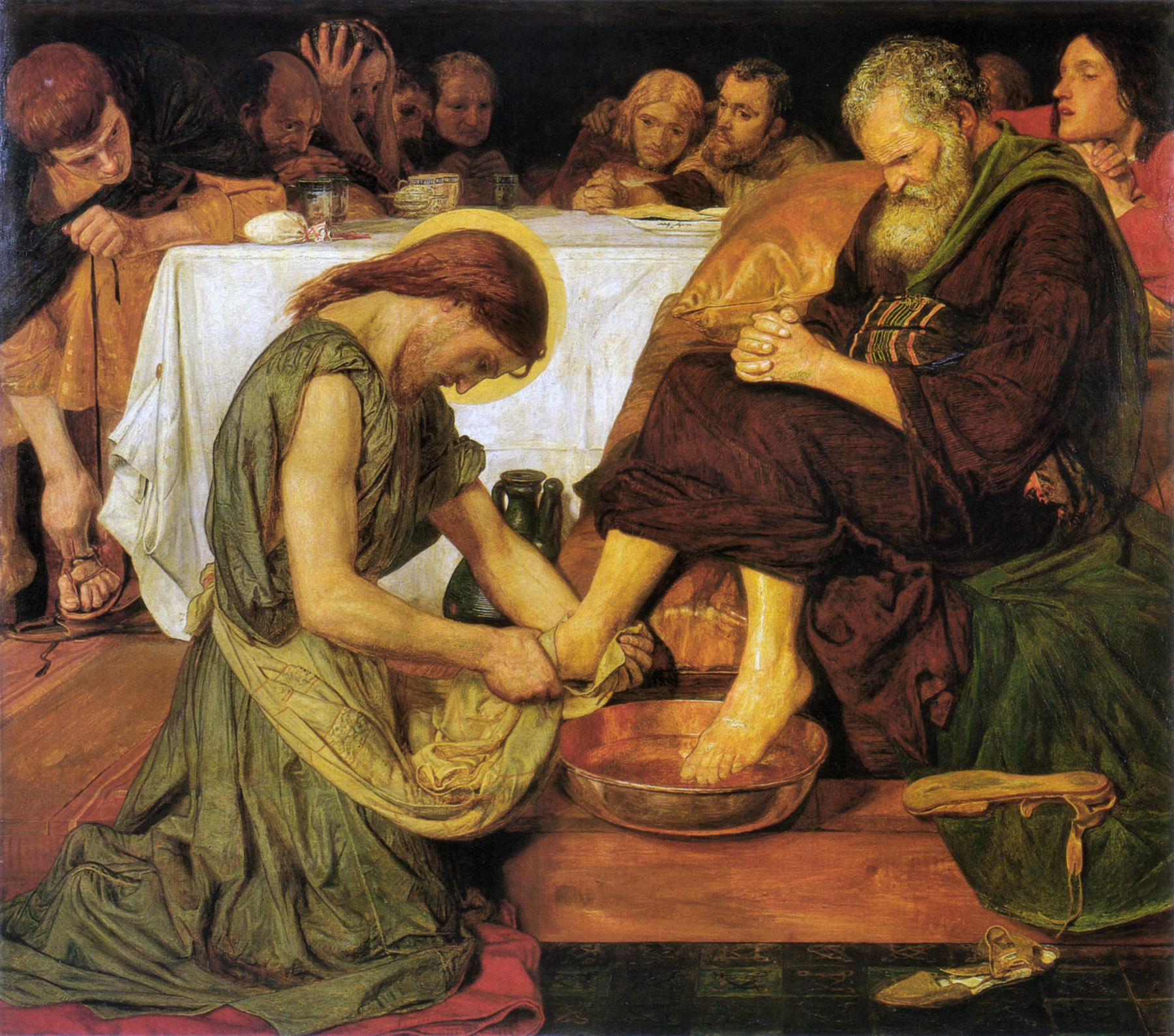 Bilde:Ford Madox Brown: Jesus Washing Peter's Feet (1852) (Wikimedia)