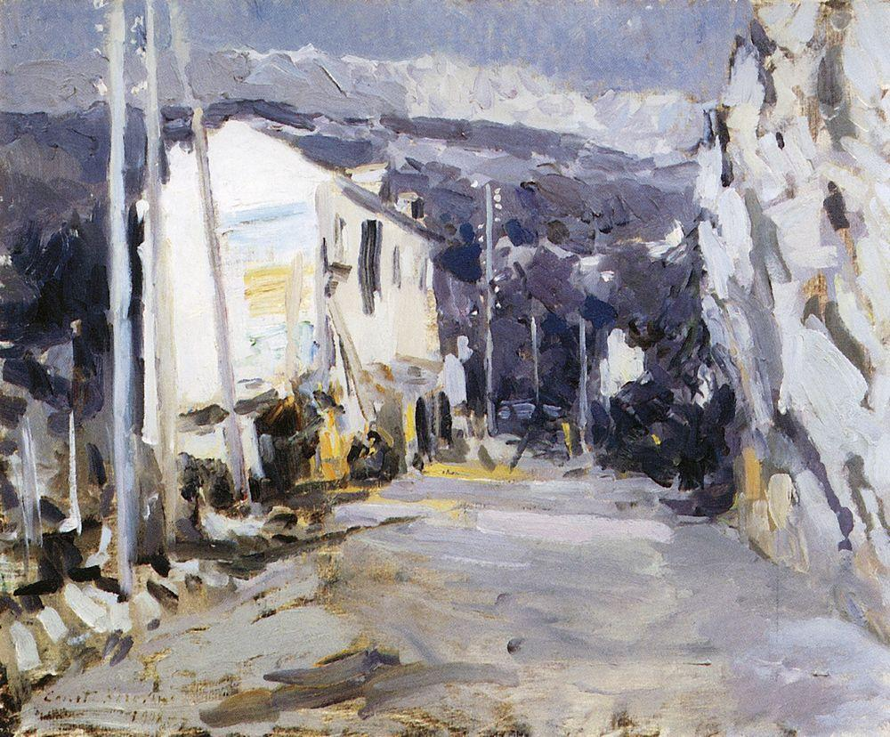 Konstantin Korovin: The Road In The Southern City  (WikiArt)