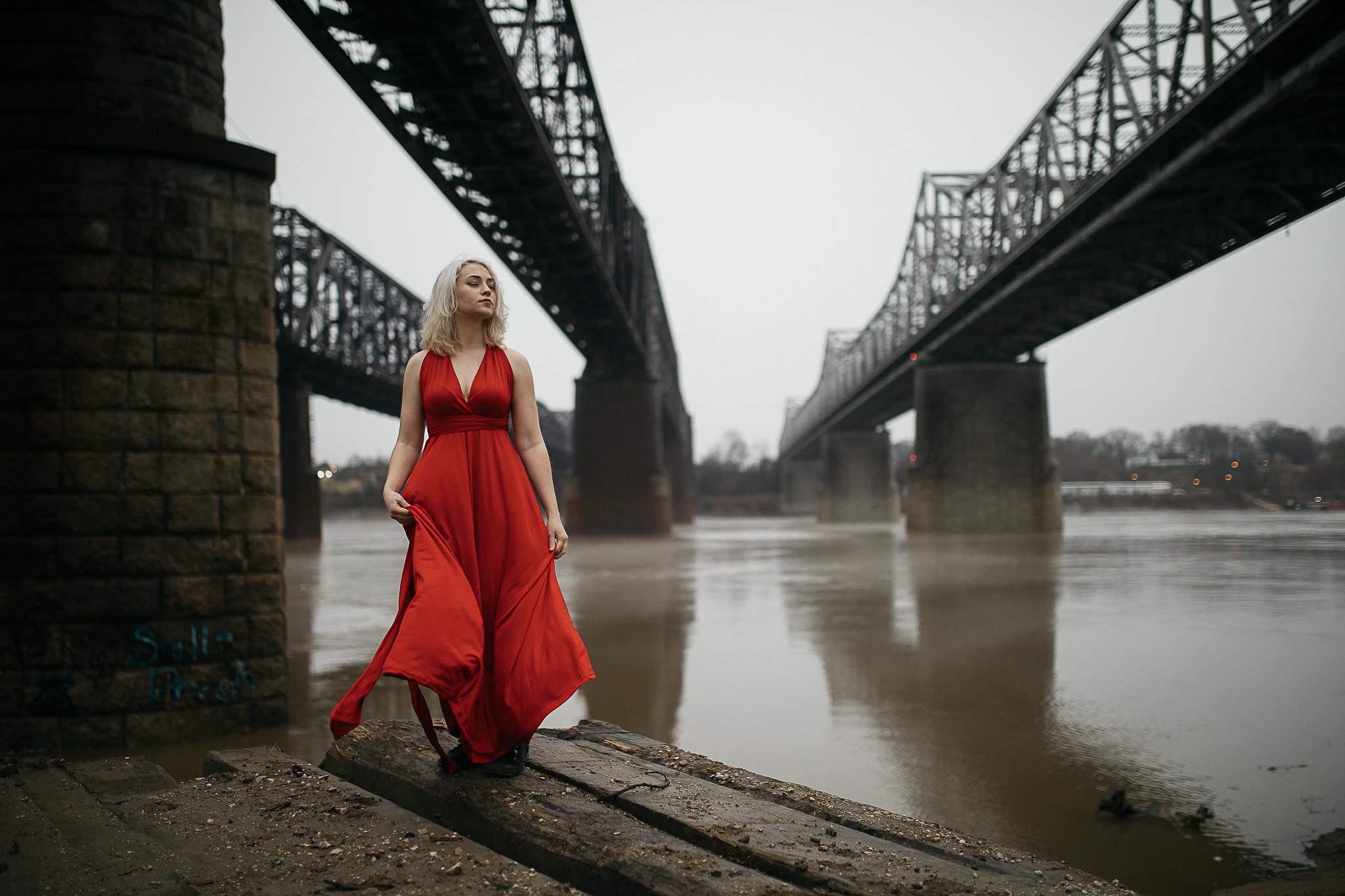 Hosanna-Memphis-Bridge-Red-Dress-Fog-9.jpg