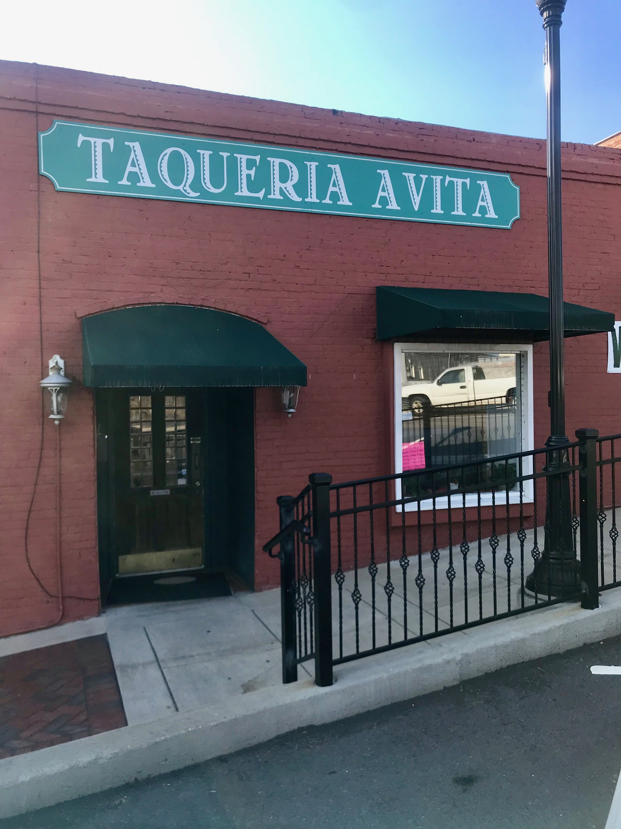 Featured Restaurant: TAQUERIA AVITA - Taqueria Avita is the newest restaurant in town and a must to check out. Authentic Mexican food is prepared with fresh ingredients when ordered. Located at 60 Broad Street, Alexander City. Open Monday thru Saturday 10 am - 8 pm and Sunday till 5:00 pmIt is oh muy Bueno!!!
