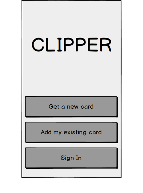 Sign Up   Users were confused by these options and often choose to sign in when trying to setup a new account and add an existing card.