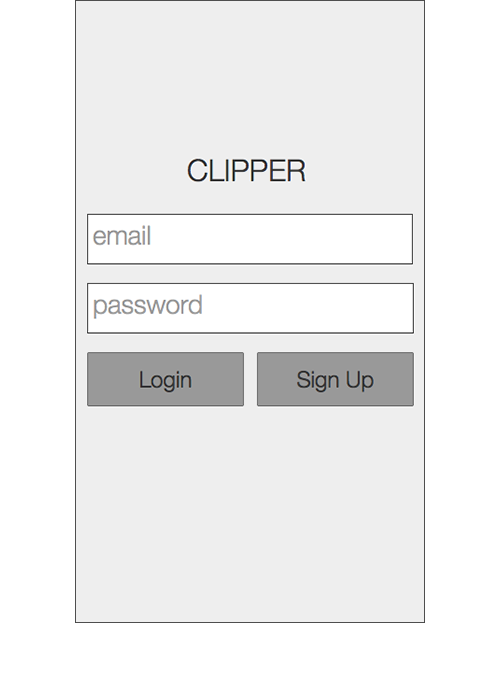 Sign Up   The revised sign up screen prompted users for an email address and password to avoid confusion of adding a card with account setup.