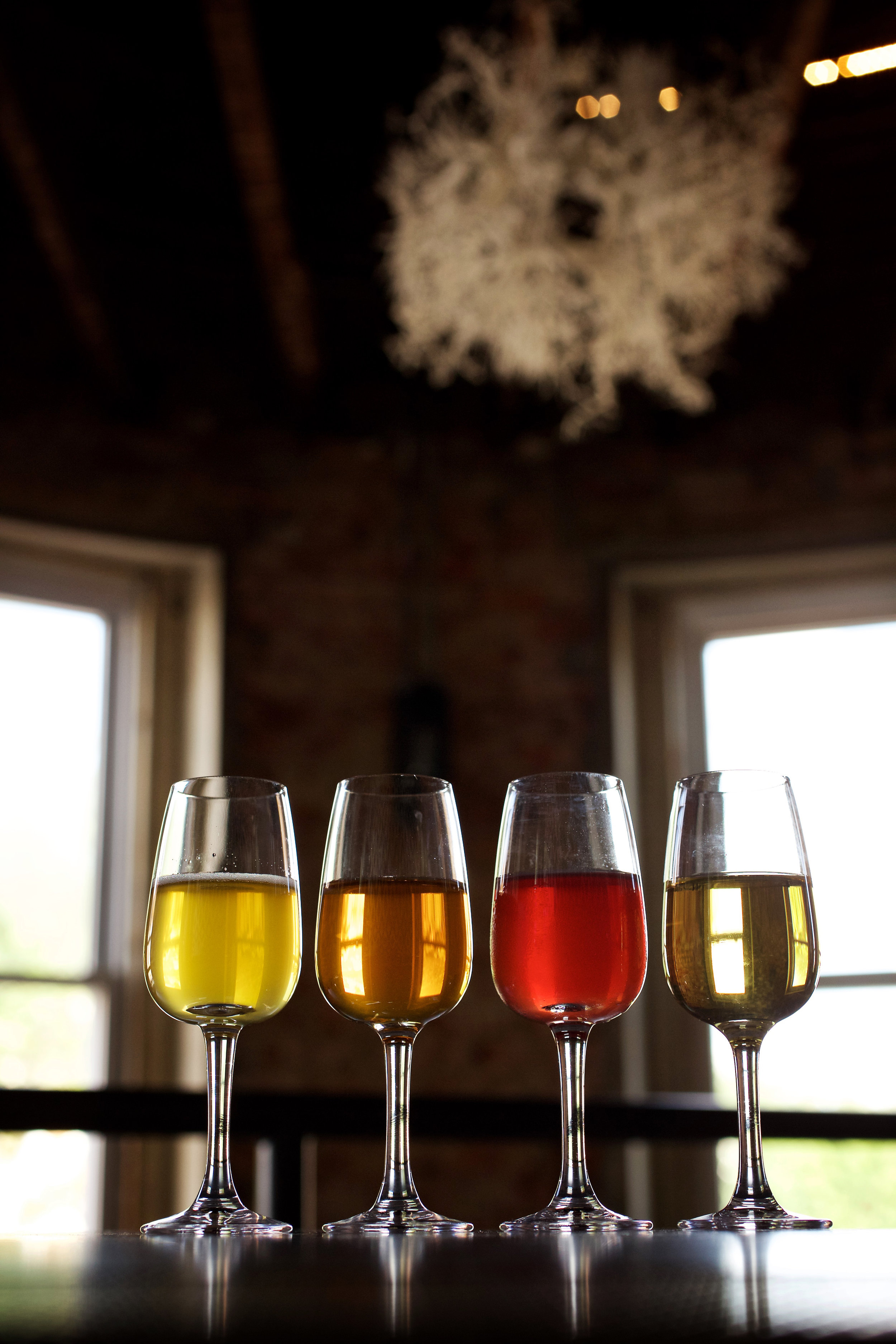 Cider offerings from  Anxo Cidery and Pintxo Bar
