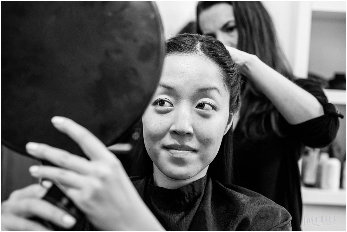 Lorien Hotel Brunch wedding bride getting hair done.JPG